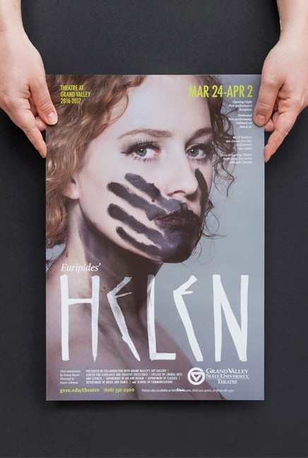 Helen theatre production poster
